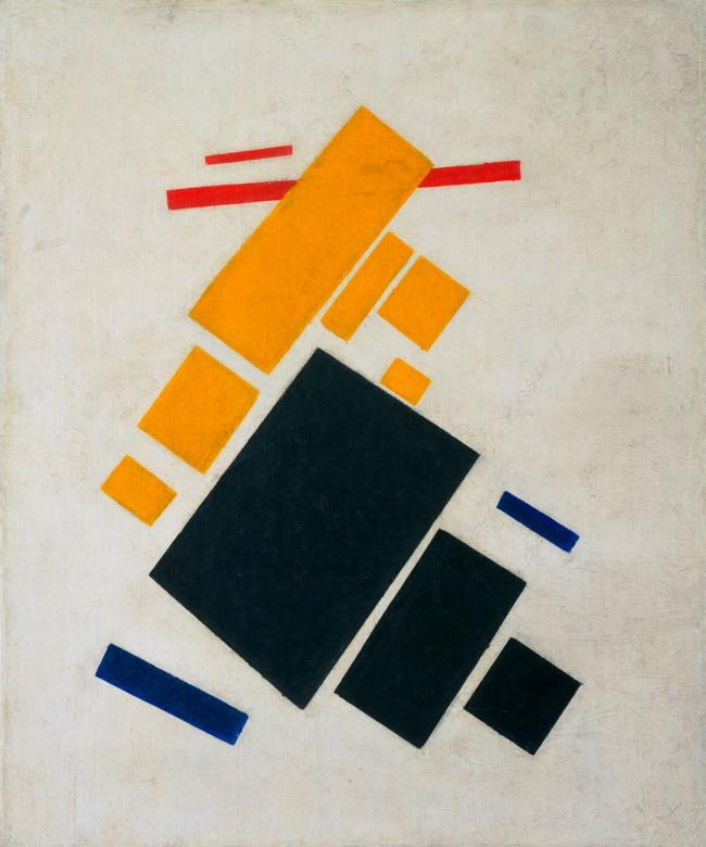 Kazimir Malevich (Russian, born Ukraine. 1878-1935) 'Suprematist Composition: Airplane Flying' 1915