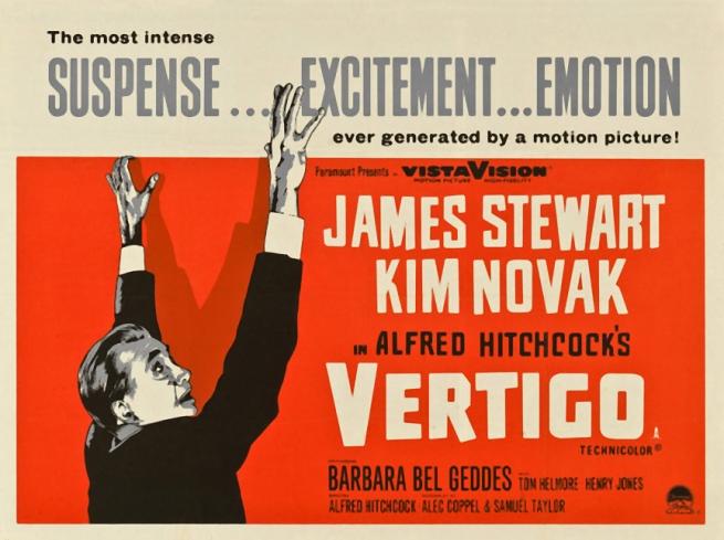 Vertigo film poster 1957/58