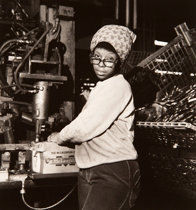 Milton Rogovin (1909-2011) 'Untitled' from the series 'Working People: Ford' 1977-1978