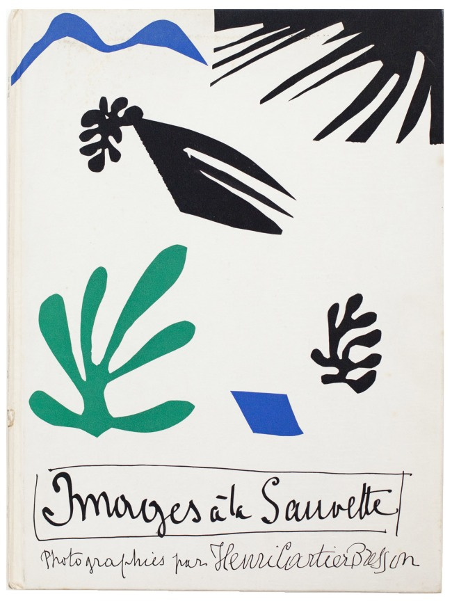 Cover by Henri Matisse of Henri Cartier-Bresson's 'Images à la Sauvette' (Verve, 1952)