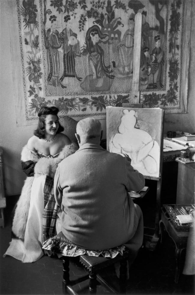 Henri Cartier-Bresson. 'Henri Matisse and his model Micaela Avogadro, Vence, France, 1944'