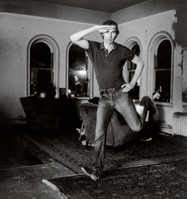 Peter Hujar. 'Self-Portrait Jumping (1)' 1974