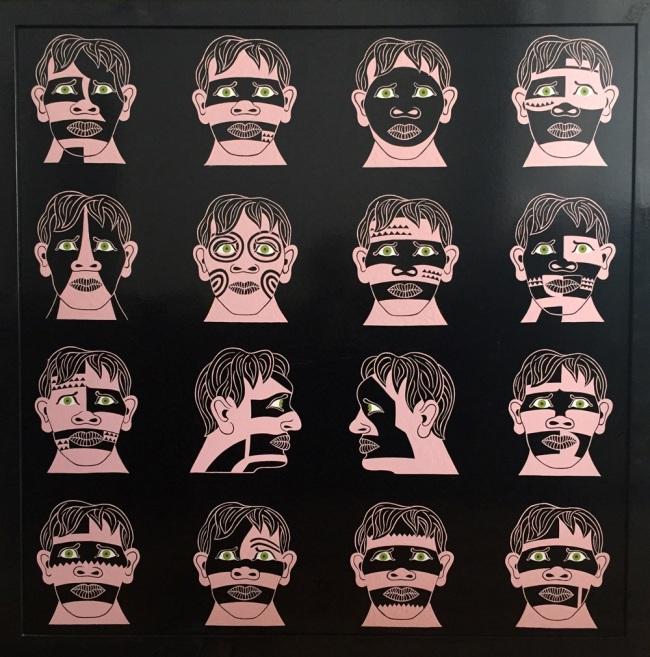 Ruth Marten (b.1949) 'Marquesan Heads' 1977