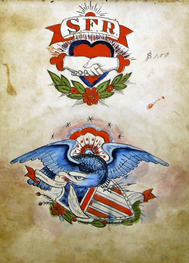 Samuel O'Reilly (1854-1909) 'Eagle and shield' c. 1875-1905