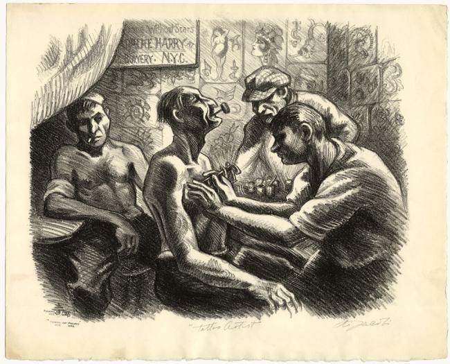 Eli Jacobi (1898-1984) 'Tattoo Artist' c. 1935
