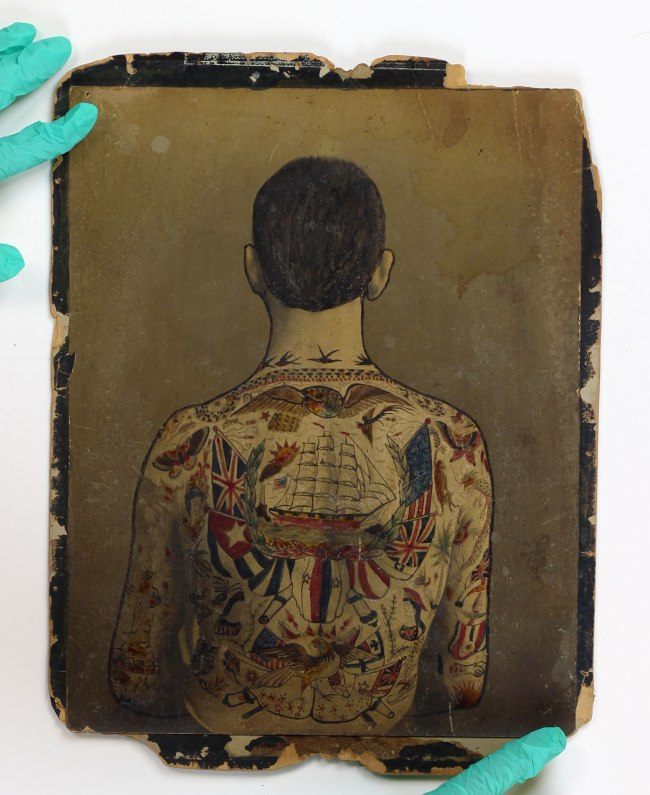 "Augustus ""Gus"" Wagner. 'Self-Portrait, Tattoo Flash' c. 1910-1930"