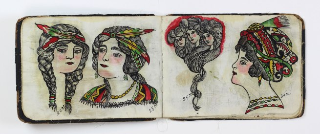 "Augustus ""Gus"" Wagner. 'Pages from ""Souvenirs of the Travels and Experiences of the Original Gus Wagner, Globe Trotter & Tattoo Artist"" scrapbook' c. 1897-1941"