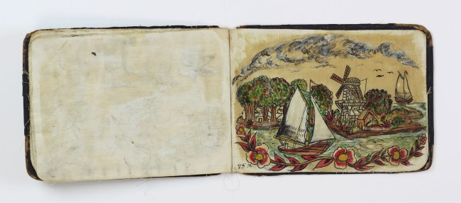 """Augustus """"Gus"""" Wagner. 'Pages from """"Souvenirs of the Travels and Experiences of the Original Gus Wagner, Globe Trotter & Tattoo Artist"""" scrapbook' c. 1897-1941"""