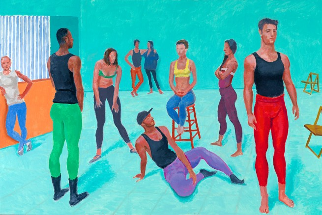 David Hockney (English 1937- ) 'The group XI, 7-11 July 2014'