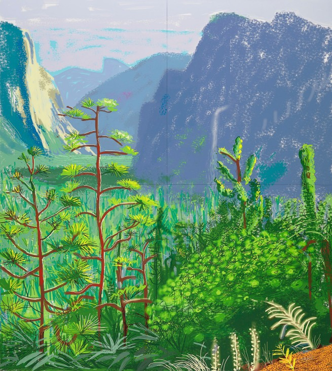 "David Hockney ""Yosemite I, October 16th 2011"" © David Hockney"