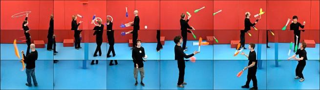 David Hockney (English 1937- ) 'The jugglers' 2012