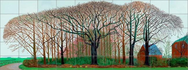 David Hockney (English 1937- ) 'Bigger trees near Warter or/ou Peinture sur le motif pour le nouvel age post-photographique' 2007