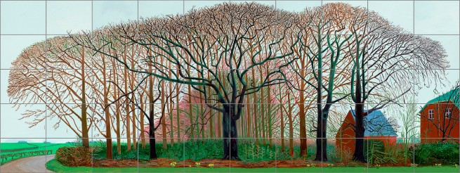 David Hockney (English 1937- ) 'Bigger trees near Warter or/ou Peinture sur le motif pour le nouvel age post-photographique' 2007