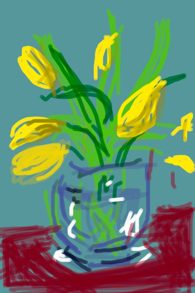 "David Hockney. ""Untitled"" 2009 iPad Drawing © David Hockney"
