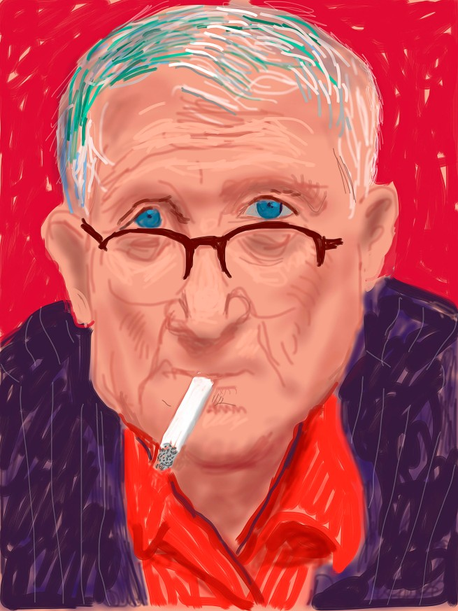 "David Hockney. ""Self Portrait, 20 March 2012"" iPad Drawing © David Hockney"