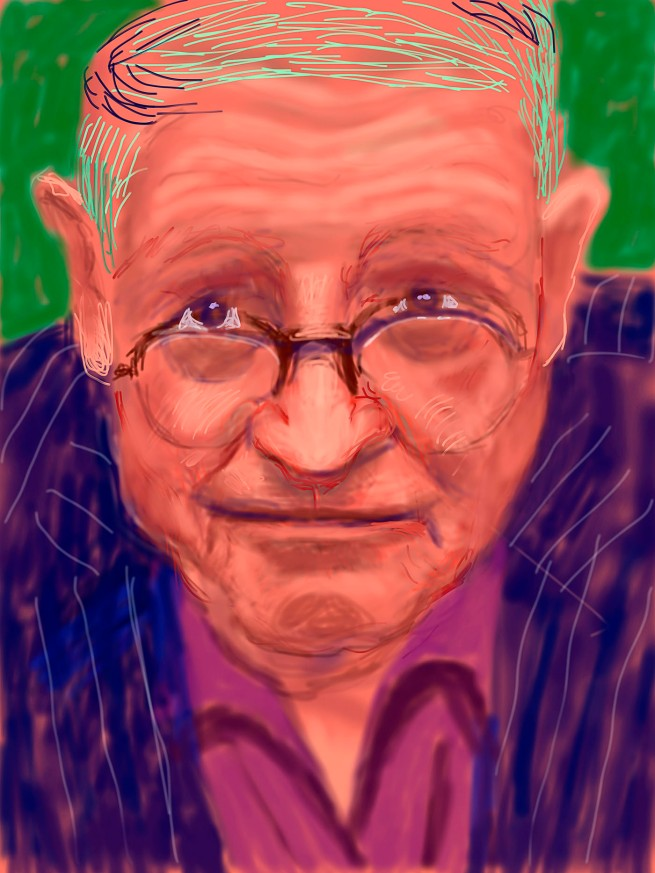 "David Hockney. ""Self Portrait, 21 March 2012"" iPad Drawing © David Hockney"