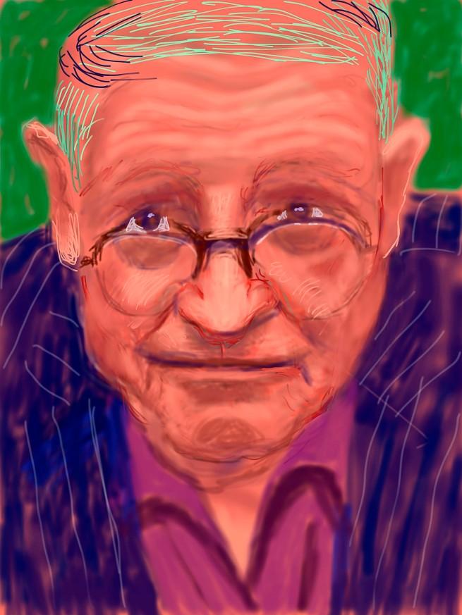 "David Hockney. ""Self Portrait, 21 March 2012"" iPad Drawing © David Hockney"