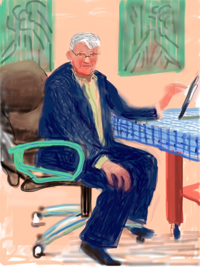 "David Hockney. ""Self Portrait, 25 March 2012, No. 3"" iPad Drawing © David Hockney"