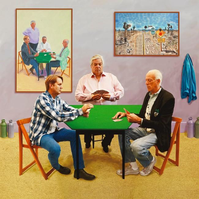 David Hockney (English 1937- ) 'A bigger card players' 2015