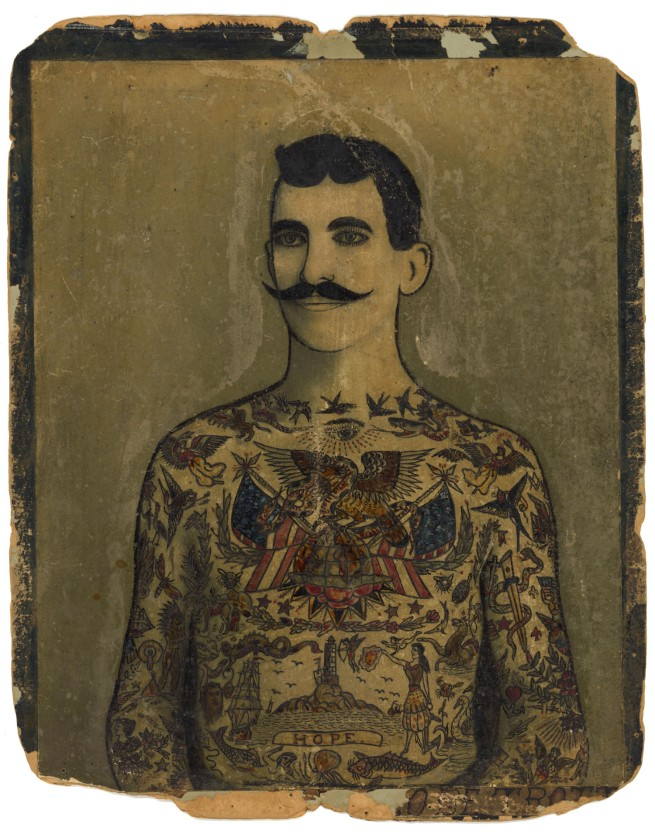 "Augustus ""Gus"" Wagner. 'Self-Portrait, Tattoo Flash' c. 1910-1930"