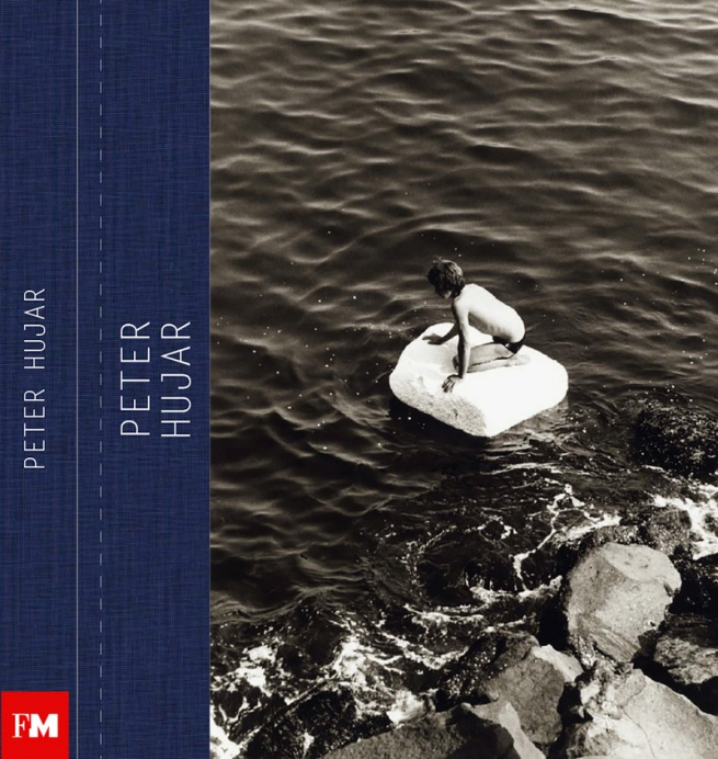 Cover of the catalogue for the exhibition 'Peter Hujar: Speed of Life' at Fundación MAPFRE, Barcelona featuring the Peter Hujar image 'Boy on Raft' (1978)