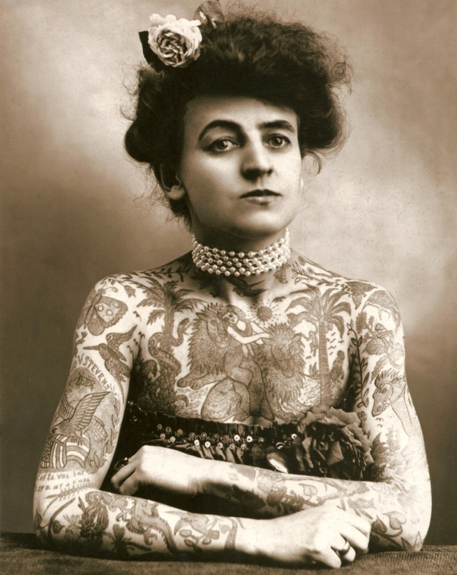 Unknown photographer. 'Maud Stevens Wagner, tattoo artist' Nd