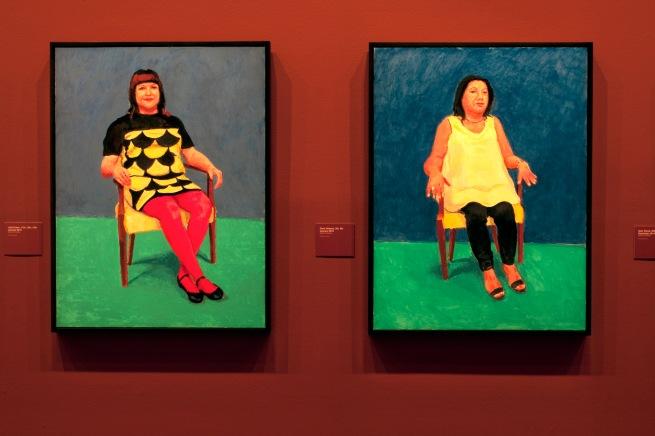 David Hockney (English 1937- ) 'Julie Green, 11th, 12th, 13th January 2015' and 'Doris Velasco, 5th, 6th January 2015' (installation view) 2013-2016