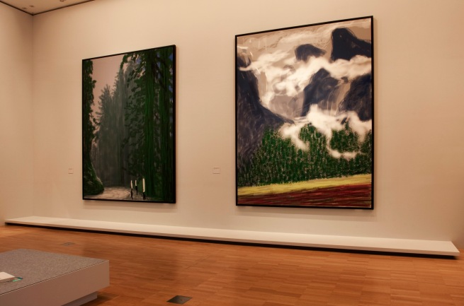 David Hockney (English 1937- ) 'Yosemite' series (installation view) 2011