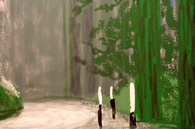 David Hockney (English 1937- ) 'Yosemite III, October 5th 2011' (detail)