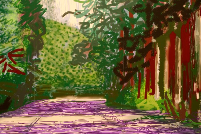 David Hockney (English 1937- ) 'Yosemite II, October 16th 2011' (detail)