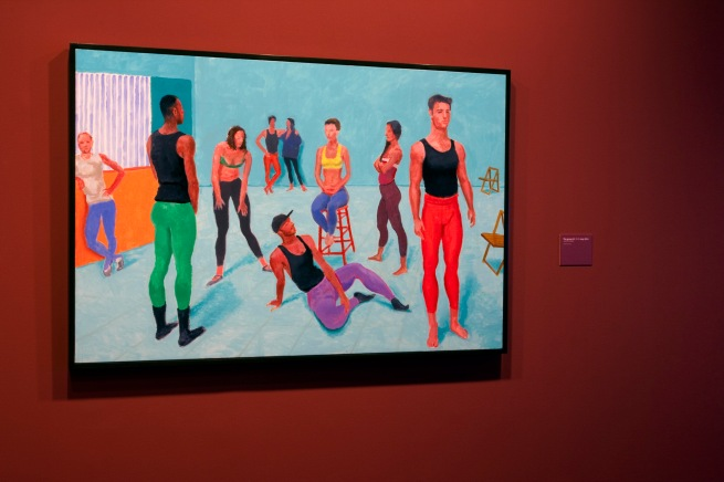 David Hockney (English 1937- ) 'The group XI, 7-11 July 2014'