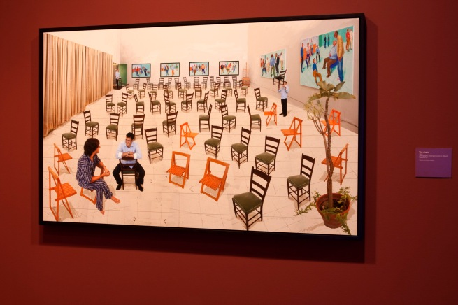 David Hockney (English 1937- ) 'The chairs' 2014