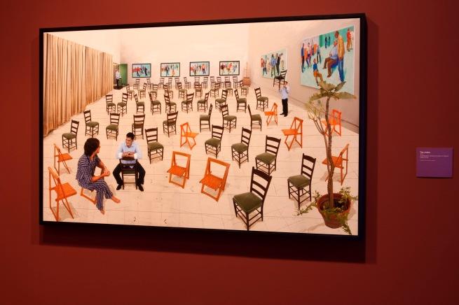 David Hockney (English 1937- ) 'The chairs' 2014