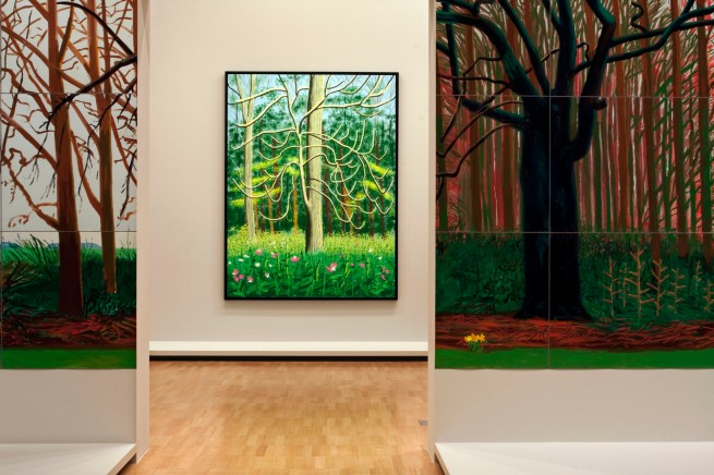 David Hockney (English 1937- ) 'The Arrival of Spring in Woldgate, East Yorkshire in 2011 (twenty eleven) - 4 May'