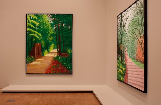David Hockney (English 1937- ) 'The Arrival of Spring in Woldgate, East Yorkshire in 2011 (twenty eleven)' (various)