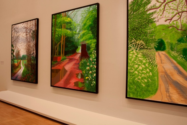 David Hockney (English 1937- ) 'The Arrival of Spring in Woldgate, East Yorkshire in 2011 (twenty eleven) - 2 January'