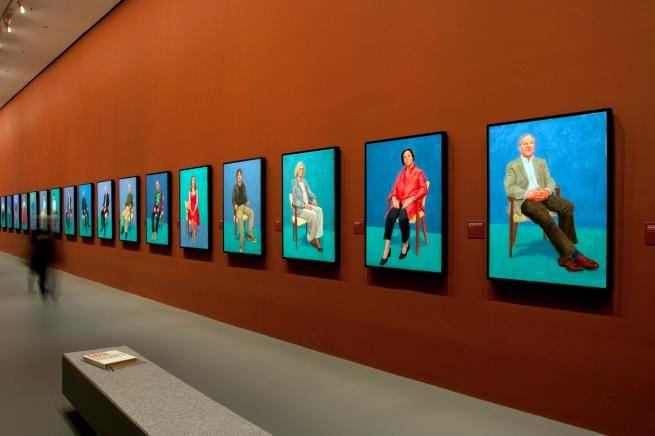 David Hockney (English 1937- ) '82 portraits & 1 still life' (installation view) 2013-2016