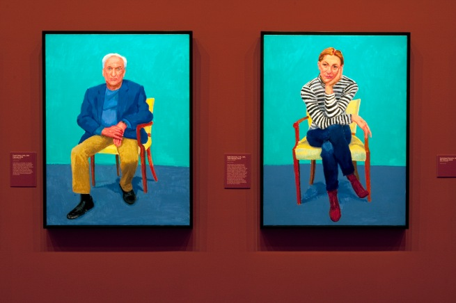 David Hockney (English 1937- ) '82 portraits & 1 still life' (installation view) 2013-2016