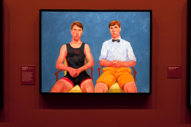 David Hockney (English 1937- ) 'Augustus and Perry Barringer, 16th, 17th June 2014'