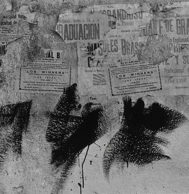 Aaron Siskind (American, 1903-1991) 'Jalapa 30 (Homage to Franz Kline)' 1973
