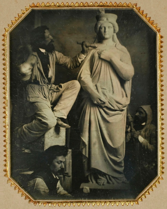 Anonymous. 'The Sculptor Hans Gasser and Workshop Assistants at Work' 1855-1857