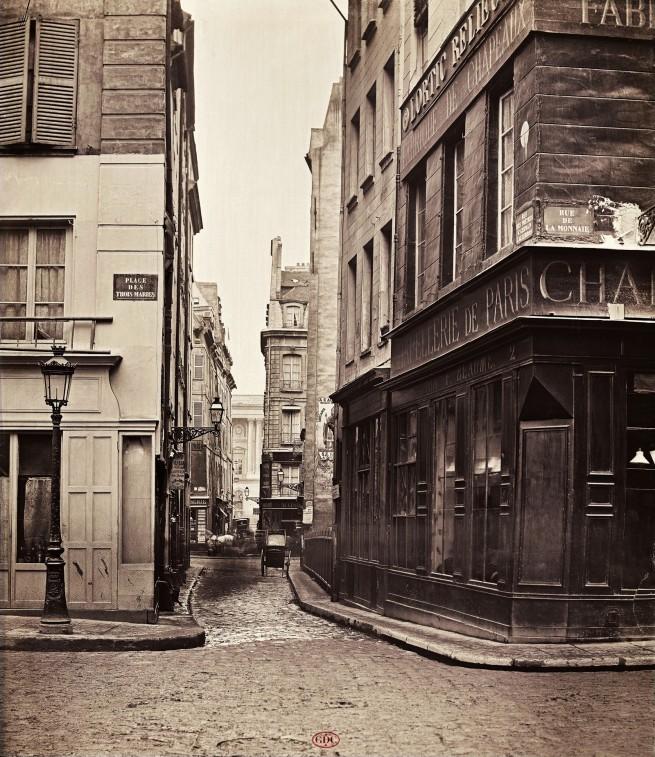 Charles Marville (French, 1816-1879) 'Rue des Prêtres-Saint-Germain-l'Auxerrois' c. 1866