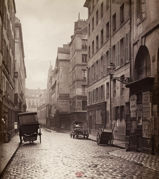 Charles Marville (French, 1816-1879) 'Rue du Cygne' c. 1865