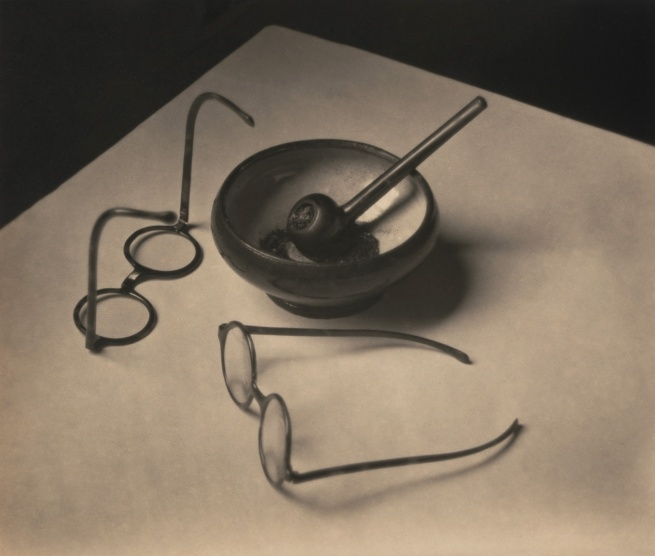André Kertész. 'Mondrian's Glasses and Pipe' 1926