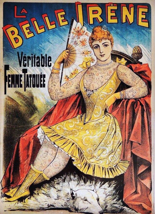 'La Belle Irene French postcard' 1890