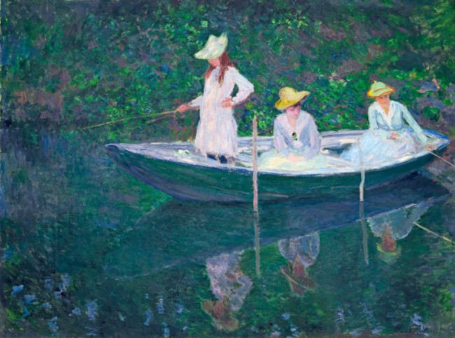 """Claude Monet (1840-1926) 'In the """"Norvégienne""""' 1887"""