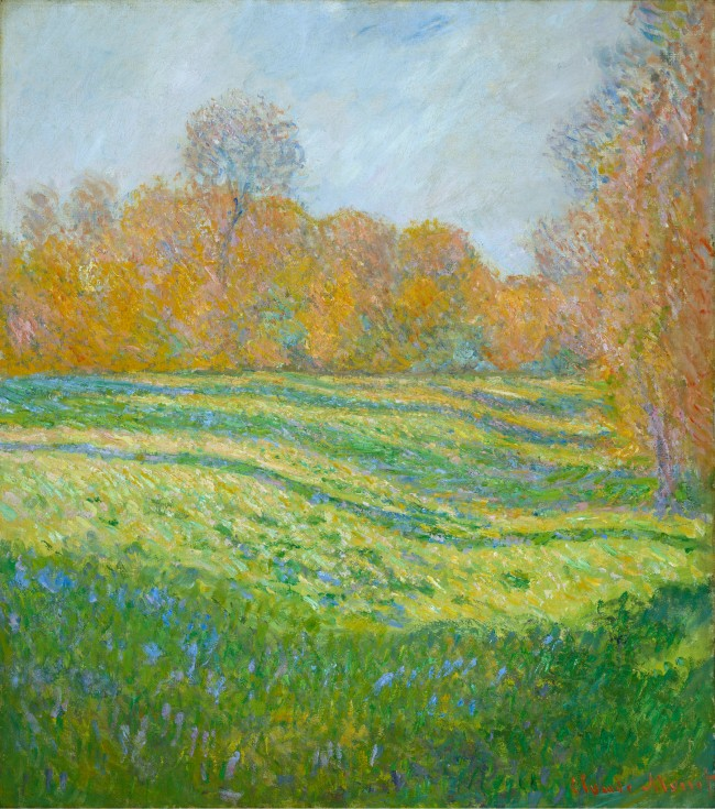 Claude Monet (1840-1926) 'Meadow at Giverny, Autumn Effect' 1886