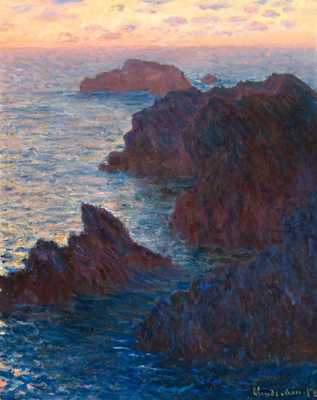 Claude Monet (1840-1926) 'Rocks at Belle-Île, Port-Domois' 1886