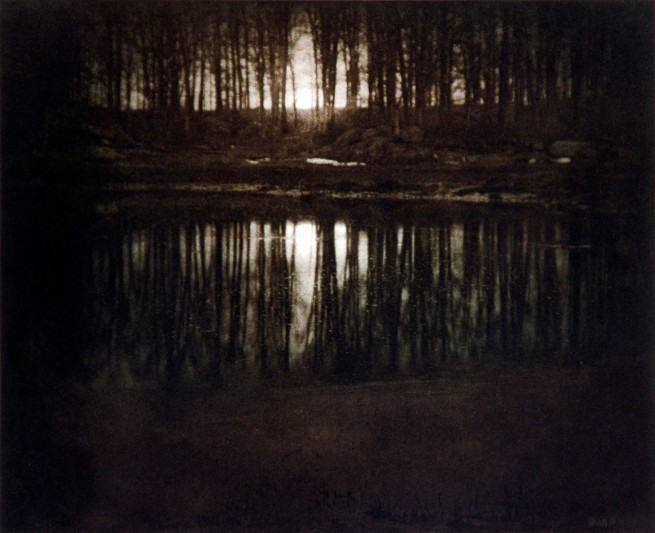 Edward J. Steichen (American, born Luxembourg, 1879-1973) 'Moonrise, Mamaroneck, New York' 1904, printed 1981
