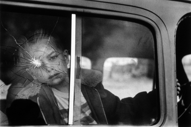 Elliott Erwitt (American, born France 1928) 'Cracked Glass with Boy, Colorado' 1955, printed 1980